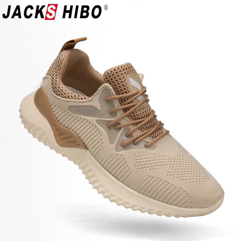 JACKSHIBO Men Sneakers Breathable Running Shoes For Male Outdoor Footwear Sport Shoes Men Walking Sneakers Zapatillas Deportiva