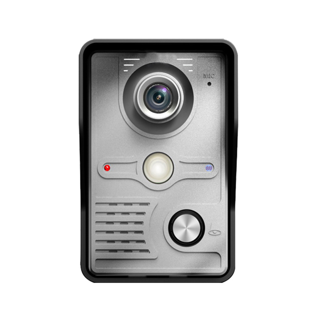 7 Inch TFT Touch Screen LCD Color Video Door Phone Doorbell Wall mounted Intercom System Night Vision Eye Camera Doorphone 802mf12 7 tft screen night vision video door phone doorbell w waterproof camera grey silver