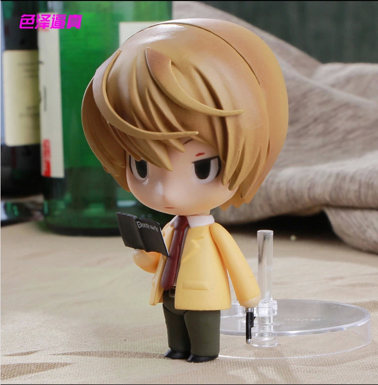 10CM Nendoroid Death Note Yagami Light #12 Q Version Boxed PVC Action Figure Model Collection Toy 1