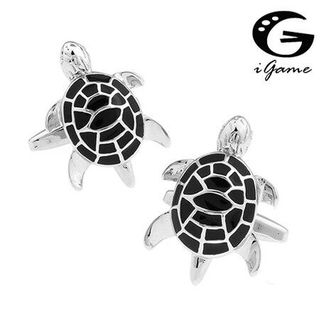 ᐃIgame tortuga mancuernas color negro diseñador novedad gemelos ...