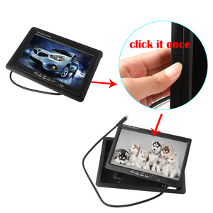Image 5 - 7 Inch 2CH TFT Color LCD Screen Car Rear View Camera Monitor for Rear View Camera Auto Parking Backup Reverse Headrest Monitor