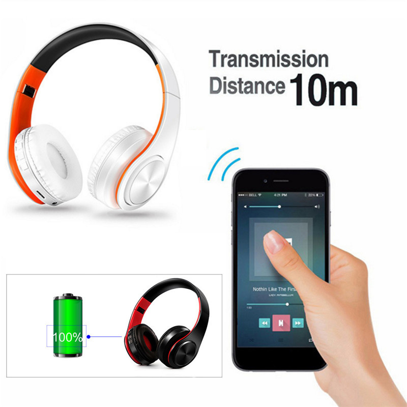 Foldable Mini Wireless Bluetooth Headset Sport for Smart Phone Headset Earphone Gift with Colorful Stereo Audio Mp3 Bluetooth
