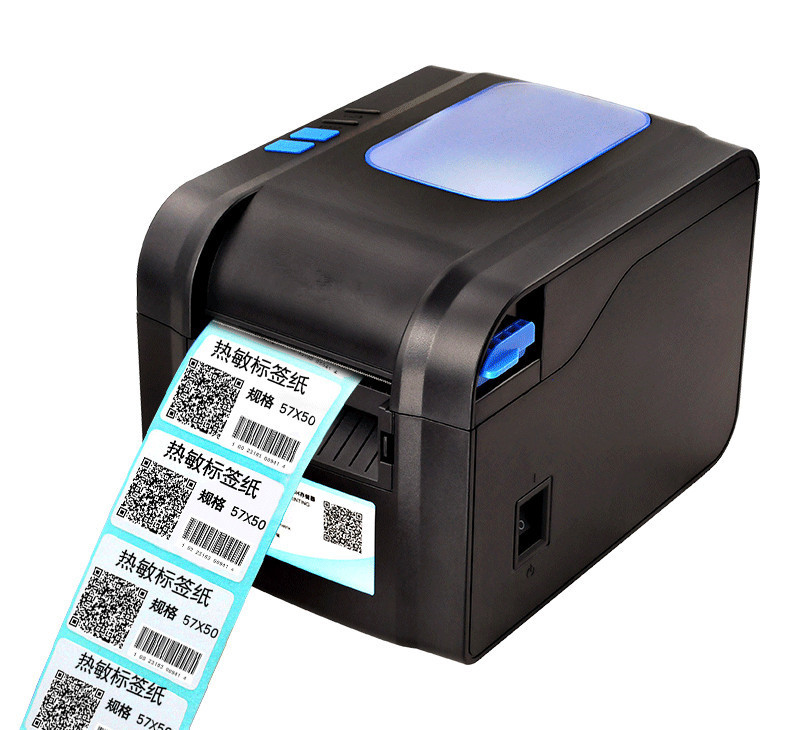 NEW upgrade thermal bar code non-drying label printer clothing tags supermarket price sticker Support for printing22-80mm width