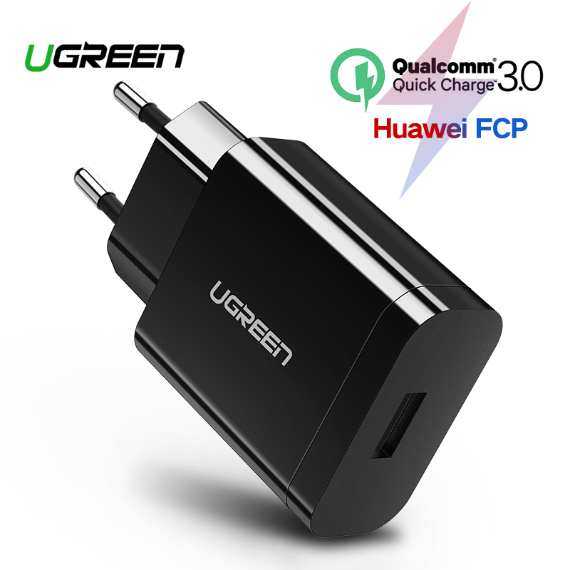 [For Qualcomm Quick Charge 3.0 2.0],Ugreen USB Charger Smart Fast Mobile Phone Charger for Samsung S7 Xiaomi 5 G5 Travel Charger Зарядное устройство