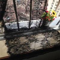 300*40cm eyelash lace decoration clothes dress fabric white black available