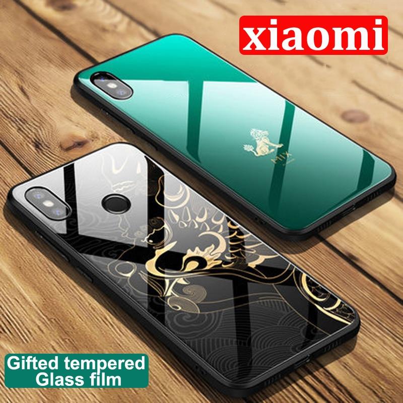 Mi 8 explore Forbidden City Tempered Phone Glass Case For Xiaomi mi8 explore Case For xiaomi Mi 8 back cover Mi 8explore cases