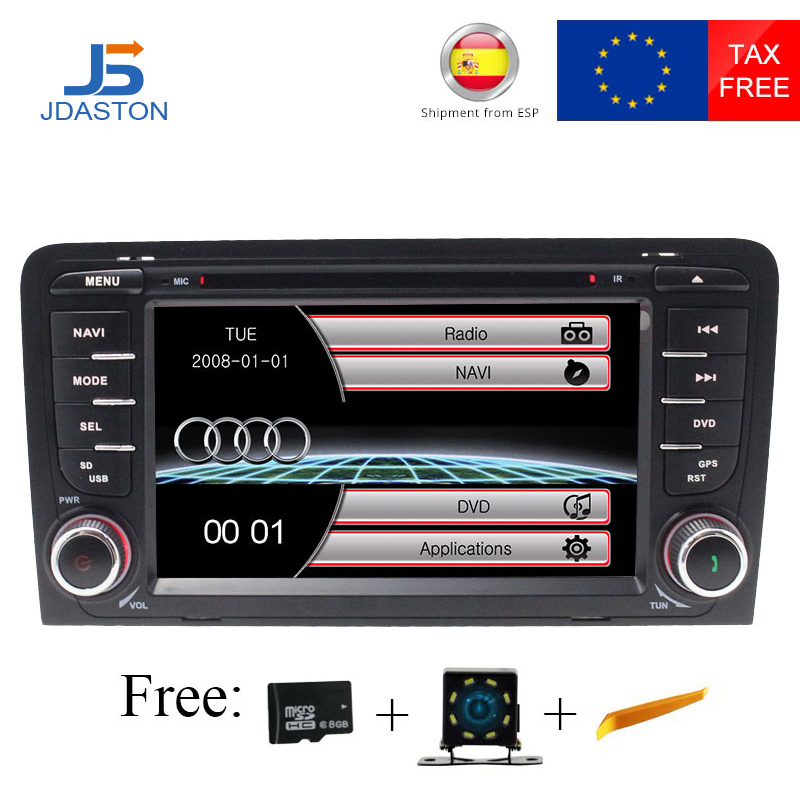 JDASTON 2 DIN Auto DVD Player Für Audi A3 2002-2011 Auto Radio GPS Navigation Multimedia Stereo Autoaudio Bluetooth canbus RDS USB