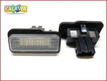 Одна пара LED Фонарь Освещения Номерного Знака Лампы для Mercedes-BENZ W211 canbus лицензии рамка пластины 030204 GGG (FREESHIPPING)