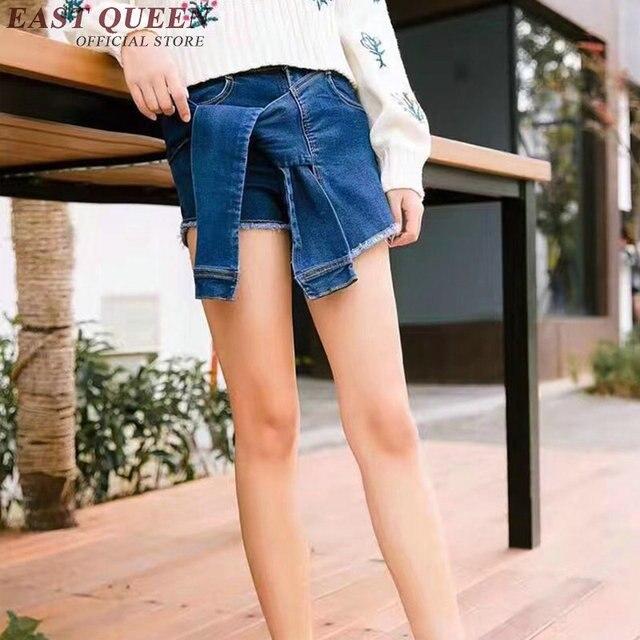 Laço da forma shorts jeans feminino das mulheres shorts jeans de cintura  alta sexy mini calças 60c64584b6c25