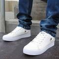 NUEVA Moda Hombre Zapatos de cuero Genuinos Ocasionales con cordones de Los Hombres Cómodos Zapatos de Moda Zapatos de Los Hombres