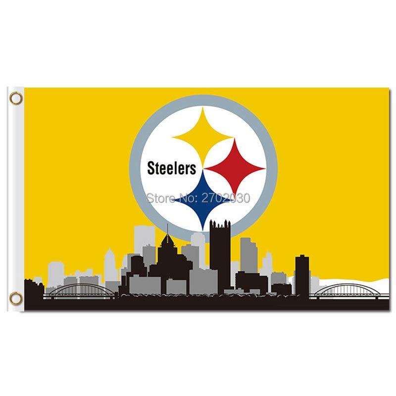 Pittsburgh Steelers bandera City Skyline n * FL bandera 3x5 pies ...