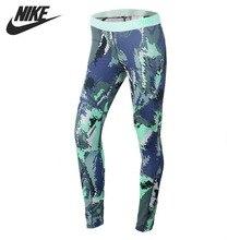 Новое поступление, оригинальные женские облегающие спортивные брюки для бега, для бега, NIKE HPRWM TGHT OIL GLITCH