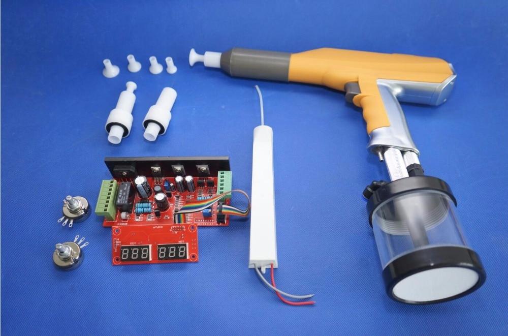 Цифровой ручной электростатический эксперимент лаборатория 100KV машина порошок пистолет для нанесения покрытий системы для Gema