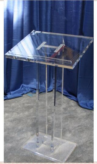 Contemporary Acrylic Lectern Acrylic Church Pulpit / High Quality Acrylic Church Podium