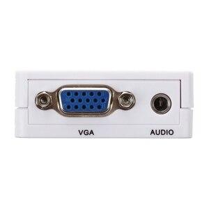 Image 5 - HFES Neue Heiße Mini VGA zu HDMI Konverter Mit Audio VGA2HDMI Adapter Stecker Für Projektor PC Laptop zu HDTV