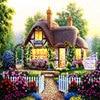 Needlework 5D Diy Diamond Painting Cottage Landscape Cross Stitch Patterns Free Full Square Drill Rhinestones Home