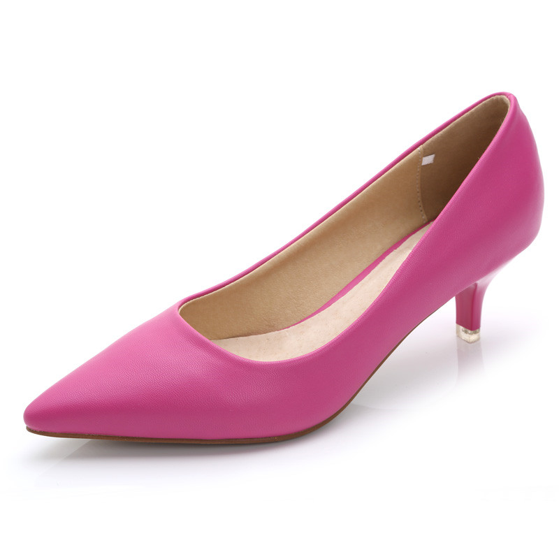 Moda 9 Mujer 2017 Oveja Las Negro Bombas Alto 7 4 Mujeres 5 Js Rosa De Zapatos Cuero Piel Genuino 8 Tacón Material b0005 1 8rqgqSdPY
