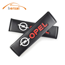 20pcs Carbon fiber seat belt cover shoulder pad Car styling for Opel Astra H G J Insignia Mokka Zafira Corsa Vectra Accessories dandkey for opel 2 button replacement car remote fob case cover for astra g h j zafira vectra insignia mokka corsa