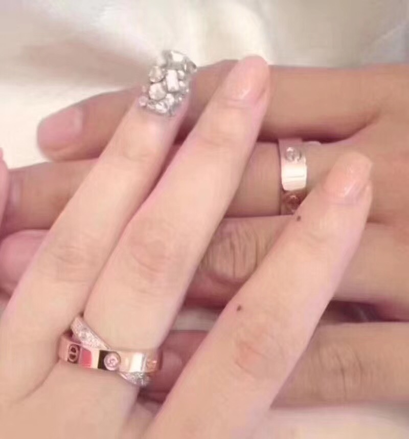Luxury Brand Screw LOVE Ring 925 Sterling Silver Jewelry For Women Lovers' Wedding couple Rose Gold 2 Color Two Circle x Ring gold and silver forever love steel couple ring for men 8 size