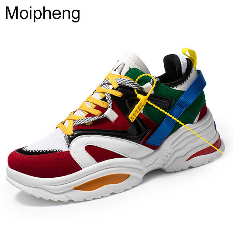 Moipheng 2018 Winter Women Casual Shoes Flock Platform White Sneakers Lace-Up Sewing Med Wedges Shoes for Women Zapatos Mujer