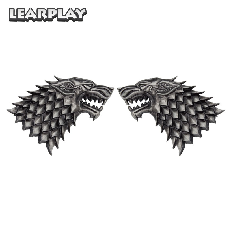 Game of Thrones Season 7 Jon Snow Cosplay Wolf Badge Costume Brooches Pin Halloween Party Accessories Props For Men Women