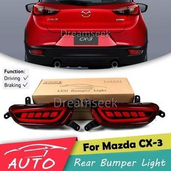 Rear Bumper Tail Light For Mazda CX-3 2016 2017 Red LED Reflector Brake Lamp Parking Warning Night Driving Fog Lamp