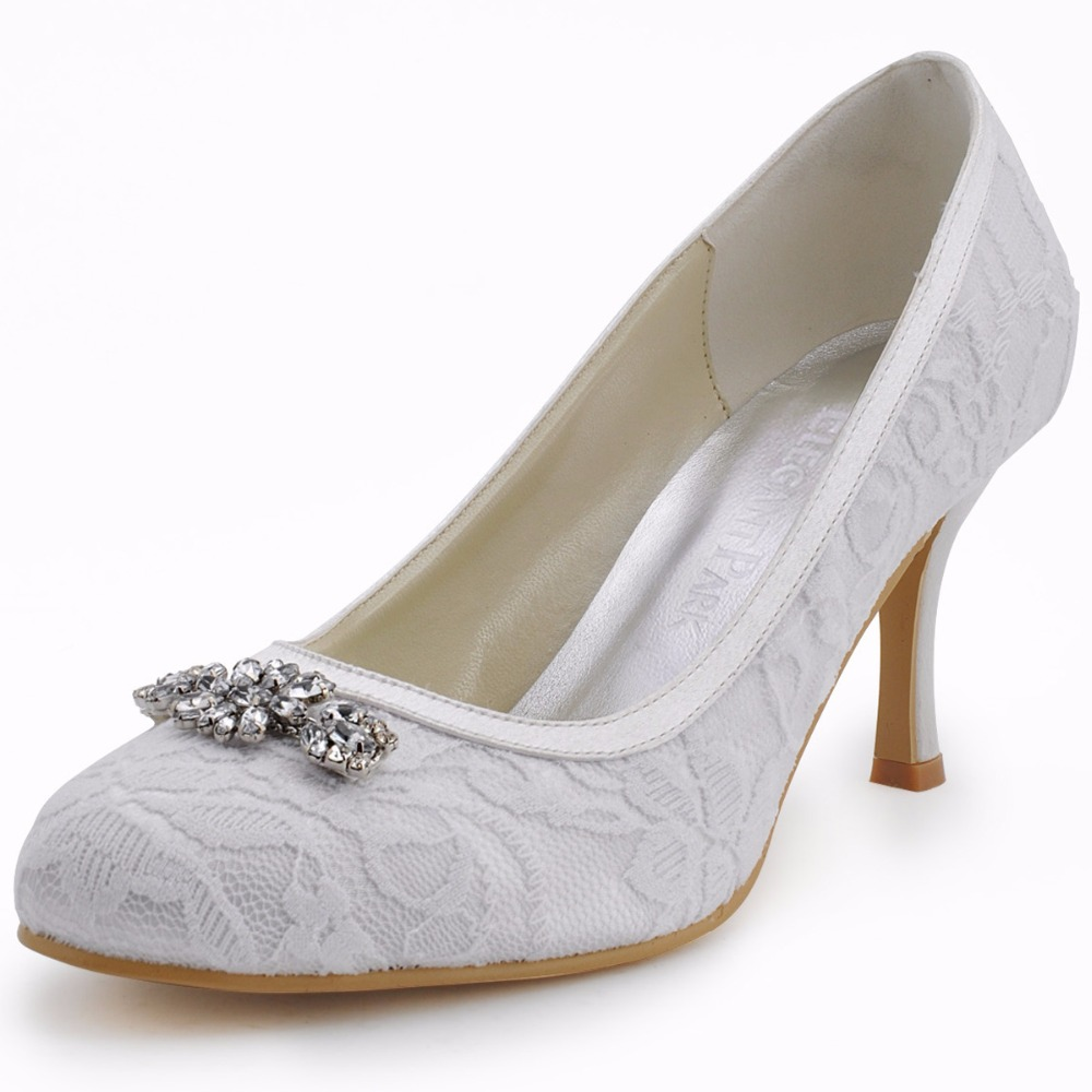 c48e98a8e259 Women High Heel Shoes Wedding Platform Navy Blue Cross Strap crystal Satin  prom party Bridal Pumps EP11085 Silver white ivory USD 47.59 pair ...