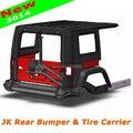 New Stylish Top AEV Bumper & Tire Holder Carrier for Jeep Wrangler JK & Unlimited JK 2007 08 09 10 11 12 13 14 15 16 teel Black