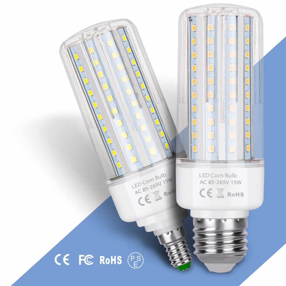 LED Corn Bulb E27 220V Lamp E14 110V Light 2835 SMD No Flicker Corn Lamp 5W 10W 15W 20W Led Bulbs Warm/White 45 75 120 138leds