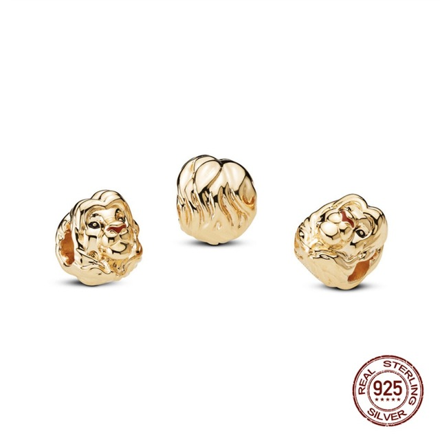 2019 New Arrival 925 Sterling Silver Beads The Lion King Simba Charms fit Original Pandora Bracelets Women DIY Jewelry 1