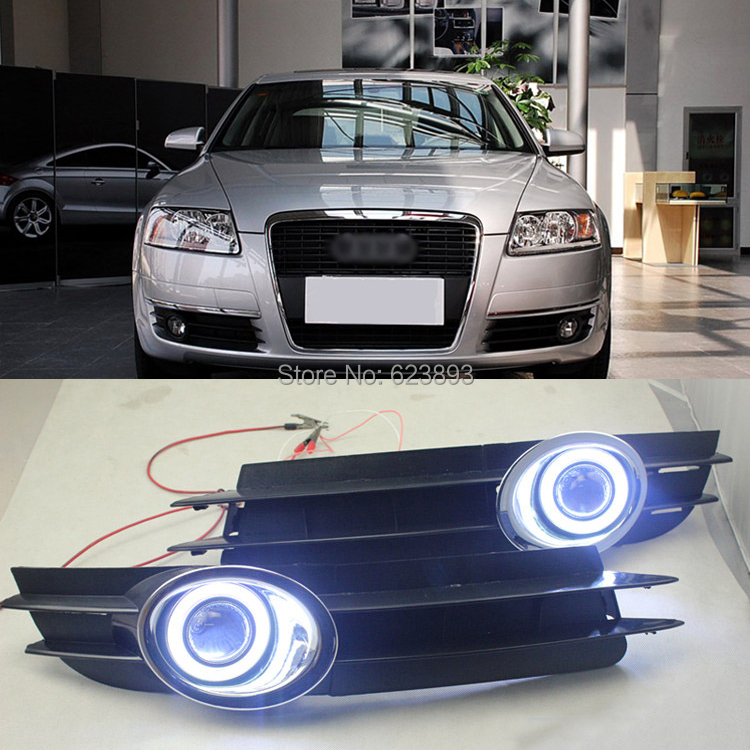 Car Styling For Audi A6 A6l C5 2005 2008 Led Daytime Running Lights Drl Projector Lens Fog