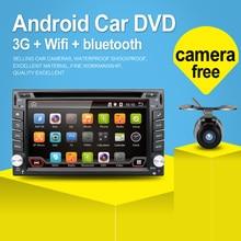 100% Android 4.4 Audio Del Coche de Navegación GPS 2DIN Car Stereo Radio Bluetooth GPS USB/Universal Intercambiable Jugador + 8G MAPA