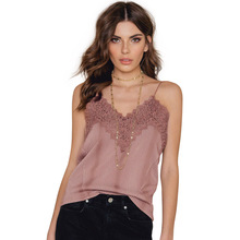 Debardeur Femme 2017 Summer Style Women Tops Sexy Lace Camisoles For Ladies Spaghetti Strap Lace Patchwork Backless Cami Top