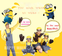 2017 New Parental Child Adults Men Women Despicable Minion Costume Halloween Anime Mini Cosplay Costumes Suit Party Clothes