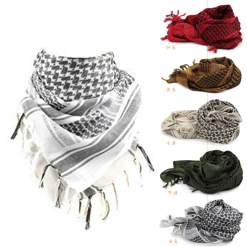 Shemagh Thicken Muslim Hijab Multifunction Tactical head   Scarf   Arabic Keffiyeh Bandana Palestine Islamic Military   Scarves     Wraps