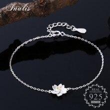 INALIS Cute Bracelet Daisy Flower 925 Sterling Silver Simple Accessories Bracelet for Women Fine Jewelry