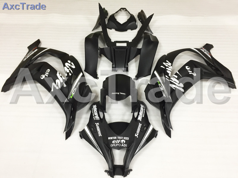 Motorcycle Fairings Kits For Kawasaki Ninja ZX10R ZX-10R 2006 2007 06 07 ABS Plastic Injection Fairing Bodywork Kit Black A696 abs fairing kit for kawasaki zx10r zx 10r 2006 2007 ninja green black line 07 06 fairing kit xl36