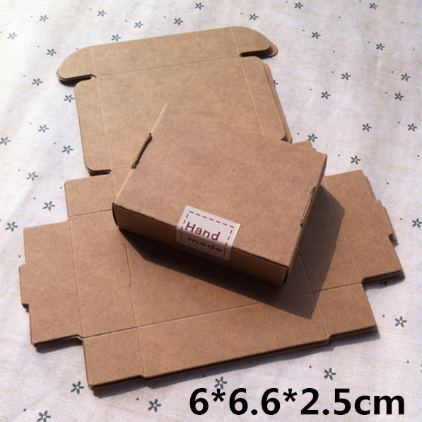 6 6 6 2 5cm Kraft Craft Paper Jewelry Box Packaging Soap Box Cookie Box Gift