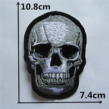 Skull Head Hot melt adhesive clothing patches stripes 1pcs applique embroidery blossom DIY accessories Ultra-low prices C106
