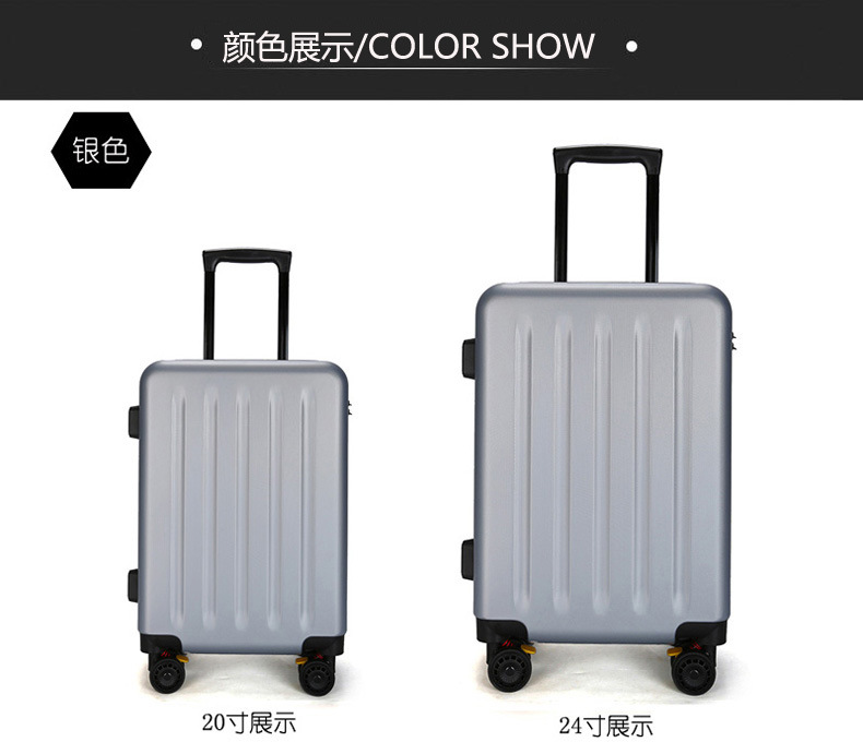 ZYJ Travel Trolley Luggage Men Women Alloy Business Solid Rolling Scratchproof Airplane Suitcase Luggage Spinner Wheels Trunk (7)
