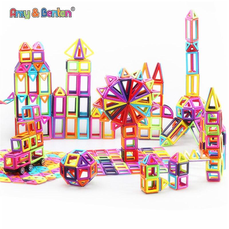 New 76 166pcs mini magnetic designer building model and construction toy plastic magnet children's puzzle building block toys