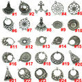 Free Shipping 2pcs Antique Silver Alloy Filigree Crafts for Making Earrings Charm Jewelry Findings