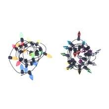 Красочный Светодиодный светильник-Гирлянда для свадьбы, рождественские, вечерние, 0,5 м, украшение кукольного дома, креативный реквизит, водонепроницаемый Рождественский светильник