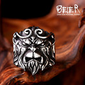 Beier new store  316L Stainless Steel high quality Winning Buddha monkey king  men ring  Fashion Jewelry   BR8-291