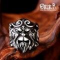 Beier nueva tienda ganando buddha rey mono de alta calidad en acero inoxidable 316l anillo de los hombres joyería de moda br8-291