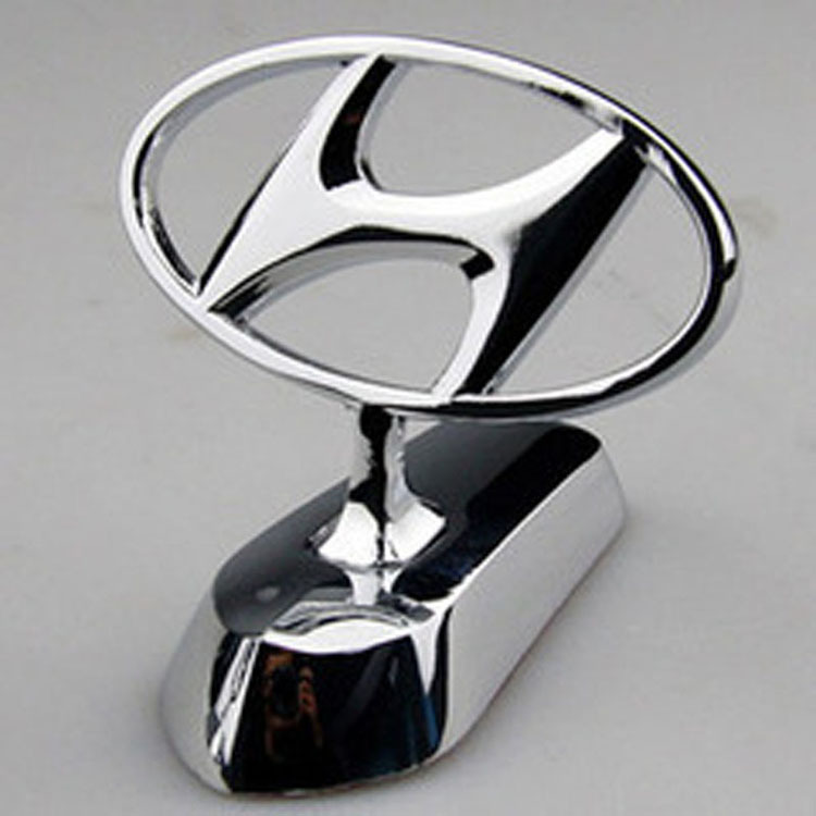 For Hyundai Metal Hood Front 3d Car Logo Car Badge Emblem Hood