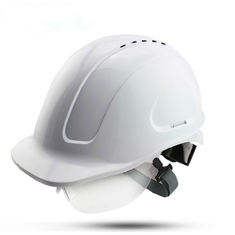ABS glazed steel building site safety helmet with glasses anti-smash breathable construction site work hard hats
