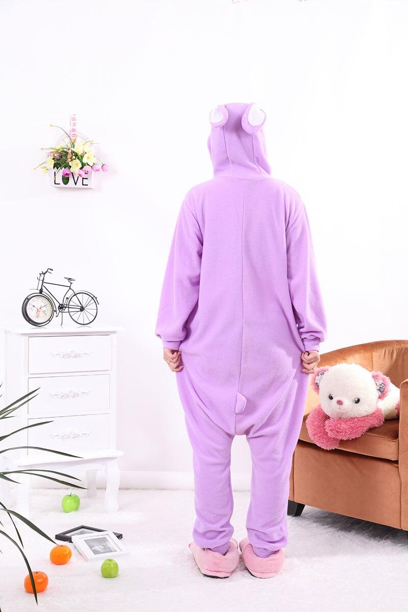 Conejo prpura pijamas adultos Onesie animales mamelucos para