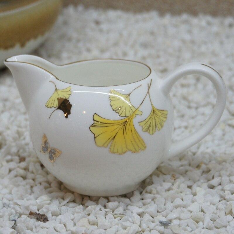 Os chine céramique lait réservoir lait réservoir anglais café lait tasse os chine lait tasse noir thé sucre bol lo926431