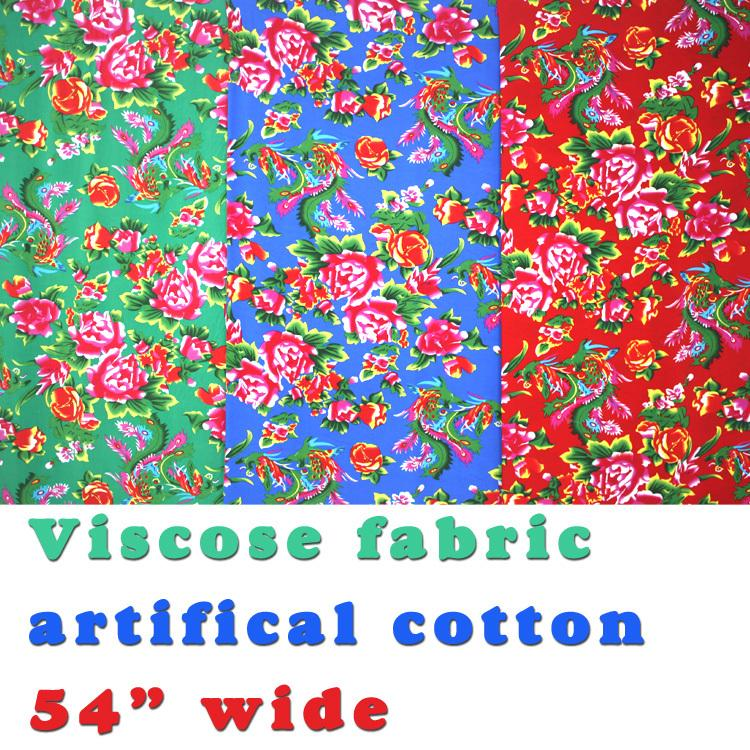 "Viscose Fabric Cotton Fabric Silk Artificial Cotton Fabric Skirt fabric 54"" Wide Sold By The Yard Free Shipping !"